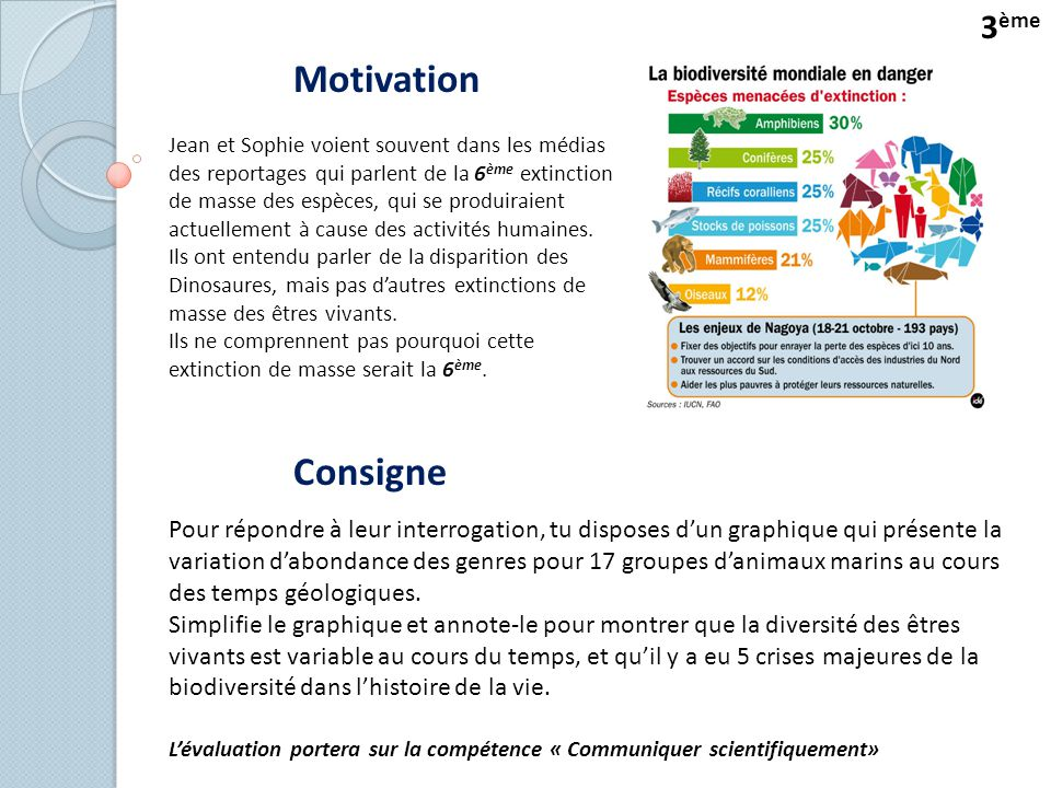 Motivation Consigne 3ème