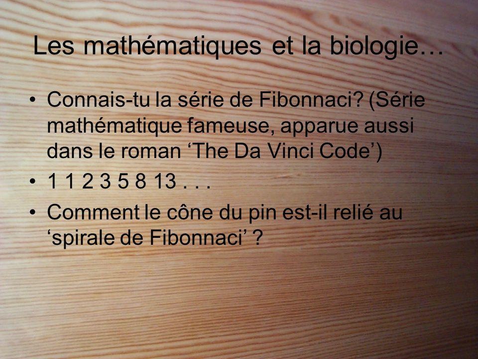 Les mathématiques et la biologie…