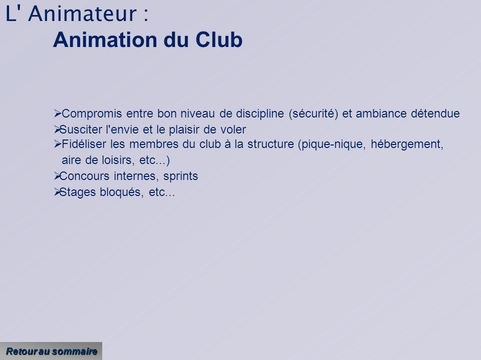 L Animateur : Animation du Club