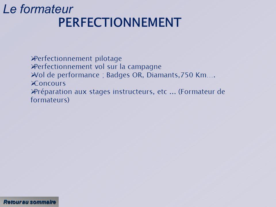Le formateur PERFECTIONNEMENT Perfectionnement pilotage