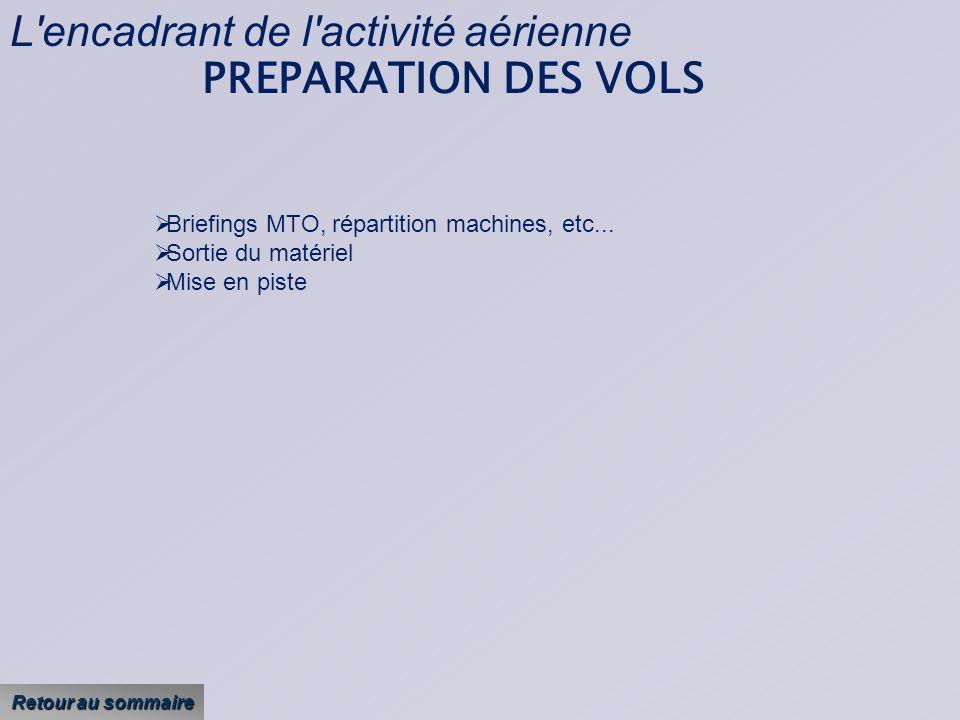 L encadrant de l activité aérienne PREPARATION DES VOLS