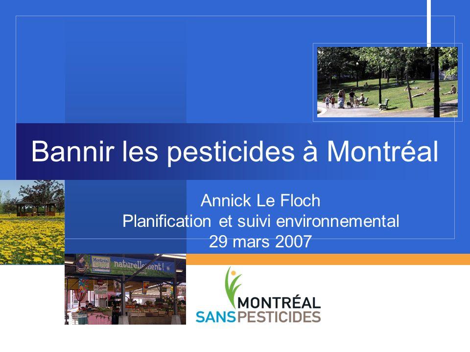 Bannir les pesticides à Montréal