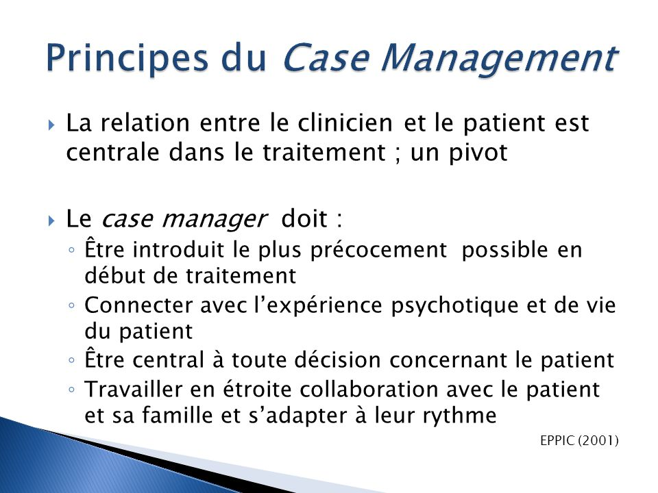 Principes du Case Management