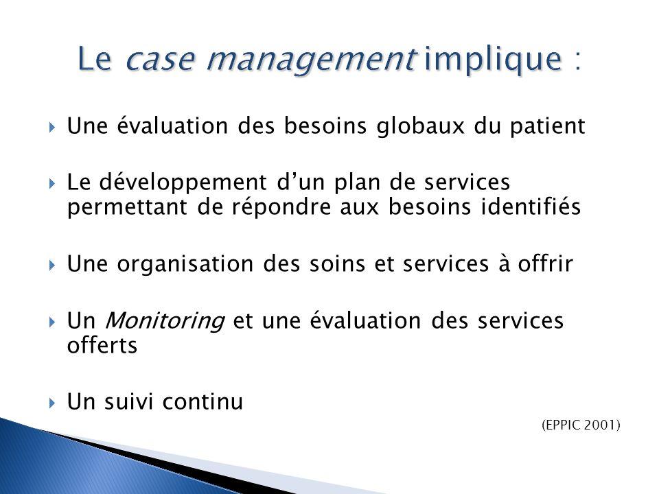 Le case management implique :