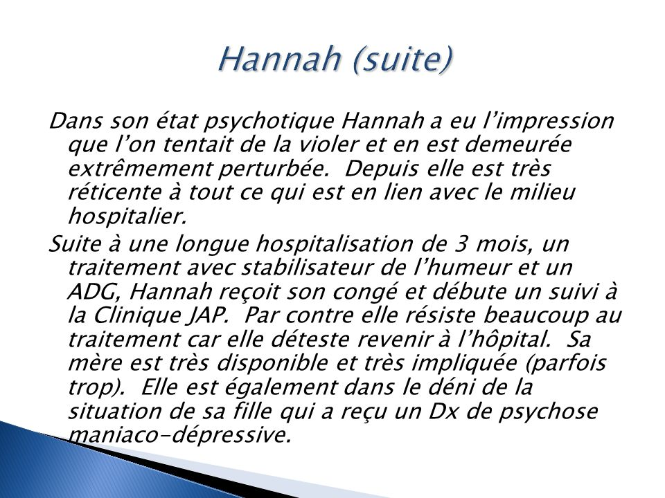 Hannah (suite)
