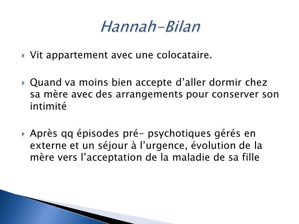 Hannah-Bilan Vit appartement avec une colocataire.