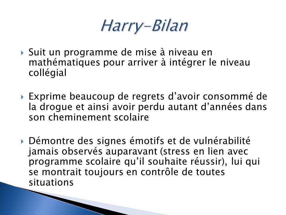 Harry-Bilan Suit un programme de mise à niveau en mathématiques pour arriver à intégrer le niveau collégial.