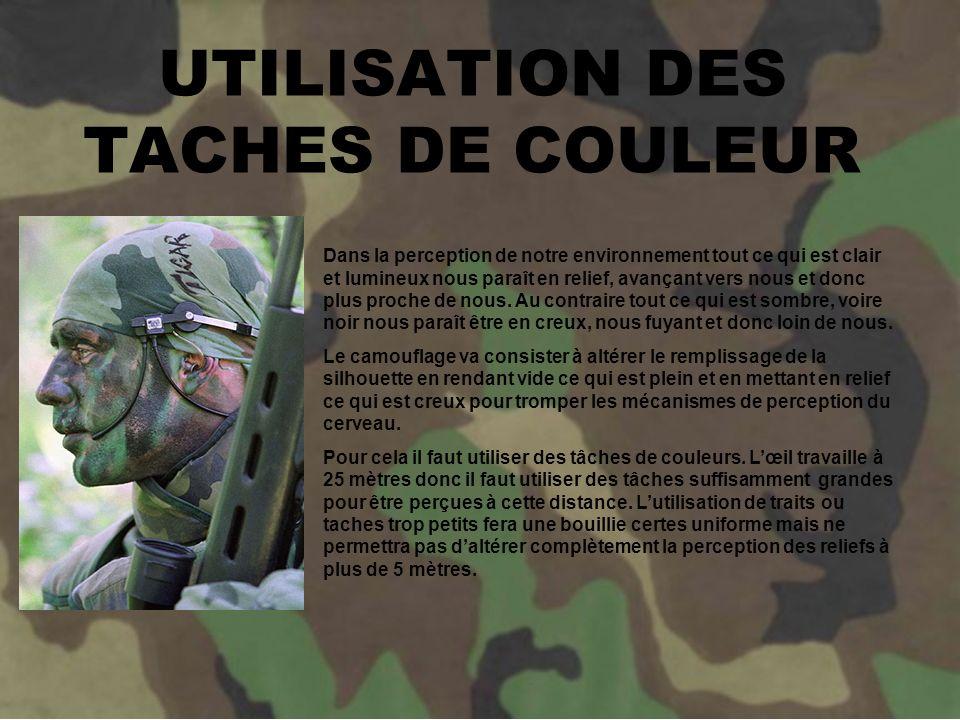 UTILISATION DES TACHES DE COULEUR