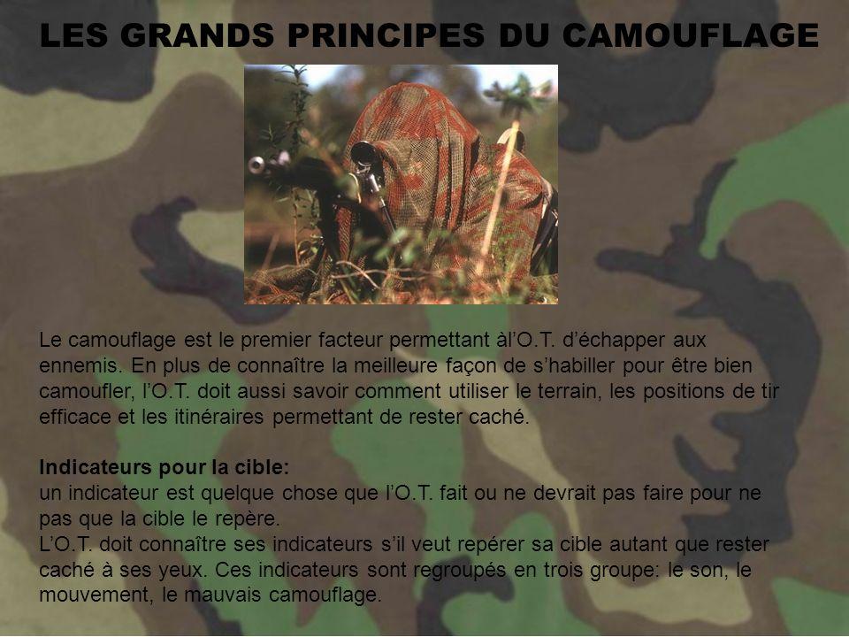 LES GRANDS PRINCIPES DU CAMOUFLAGE