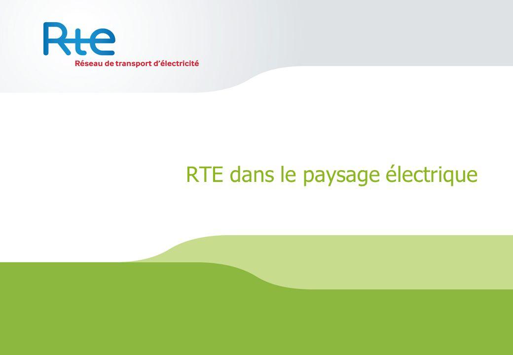 RTE dans le paysage électrique