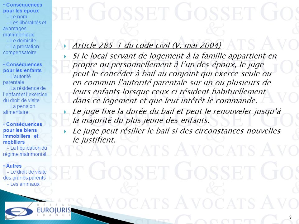 Article 285-1 du code civil (V. mai 2004)