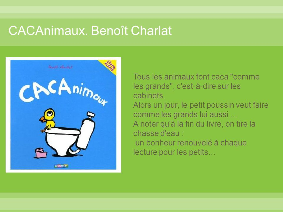 CACAnimaux. Benoît Charlat