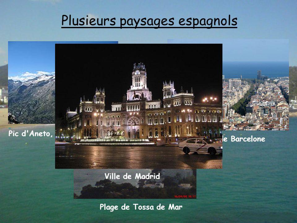 Plusieurs paysages espagnols