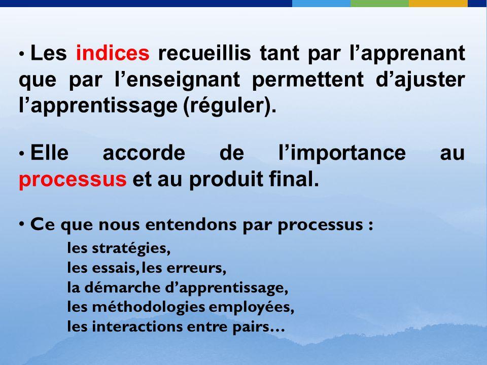 Elle accorde de l'importance au processus et au produit final.
