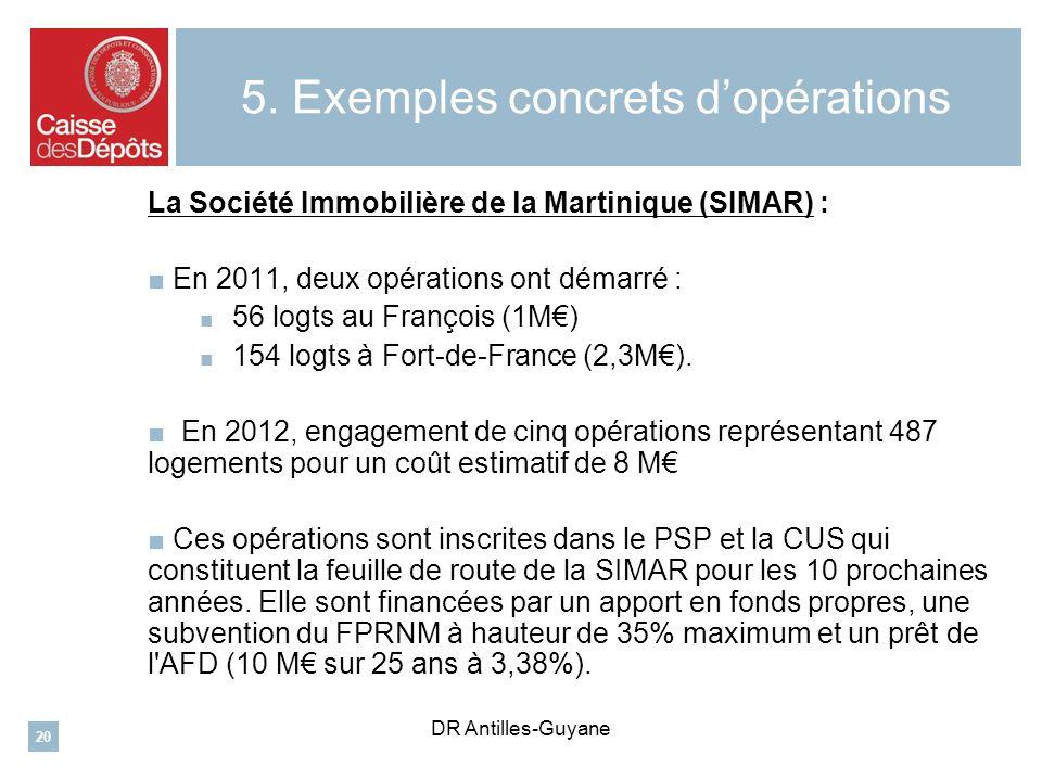 5. Exemples concrets d'opérations