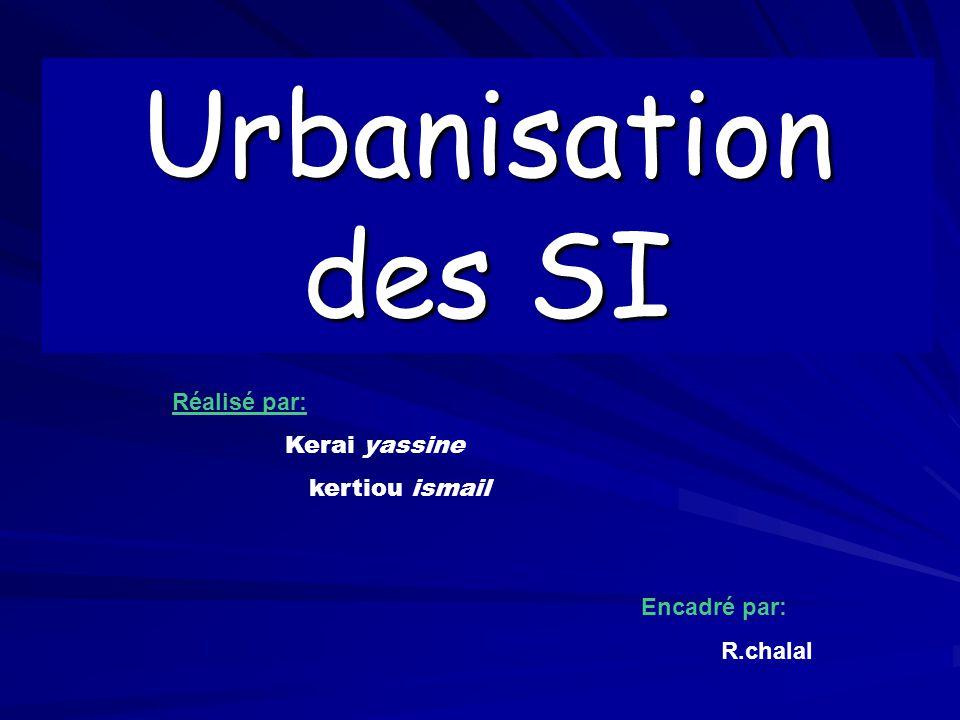 Urbanisation des SI Réalisé par: Kerai yassine kertiou ismail