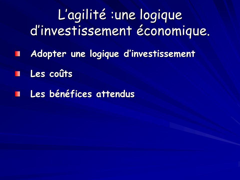 L'agilité :une logique d'investissement économique.
