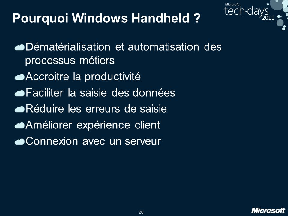 Pourquoi Windows Handheld