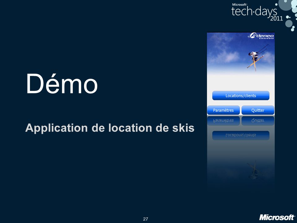 Application de location de skis