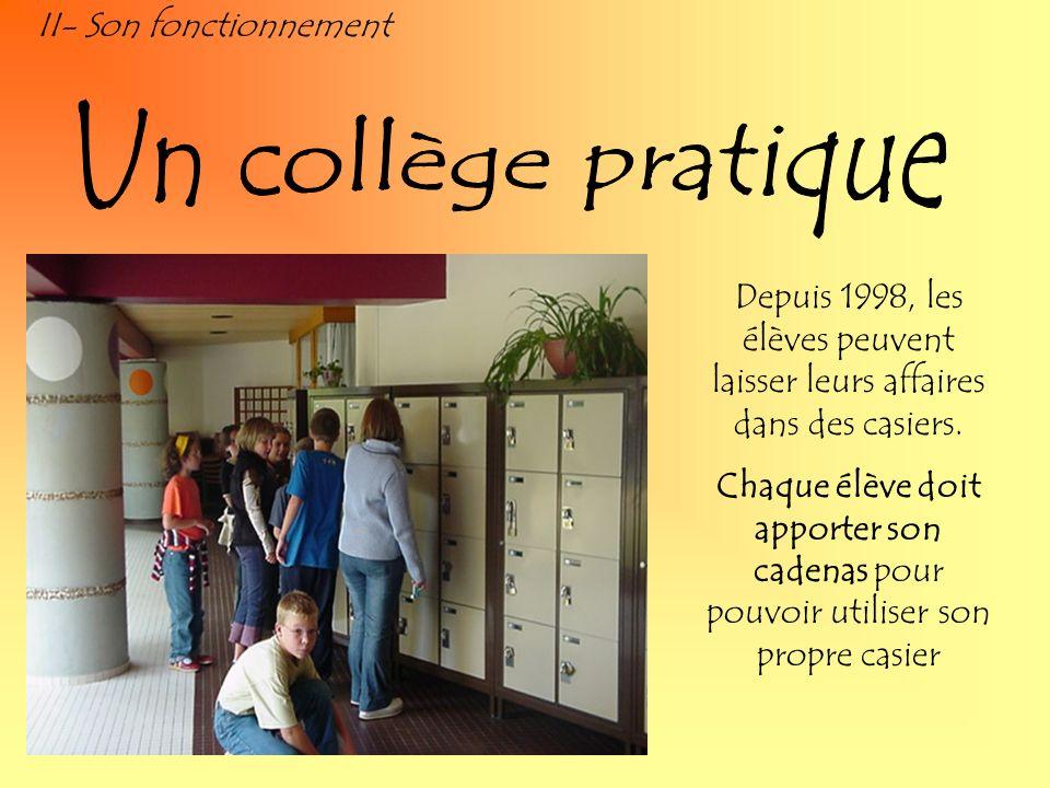 Un collège pratique II- Son fonctionnement