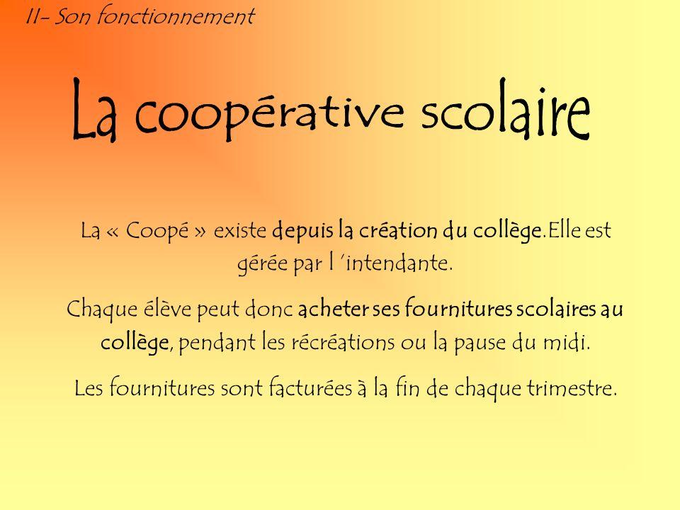 La coopérative scolaire