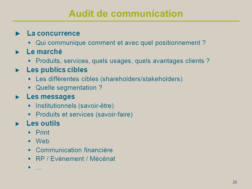 Audit de communication
