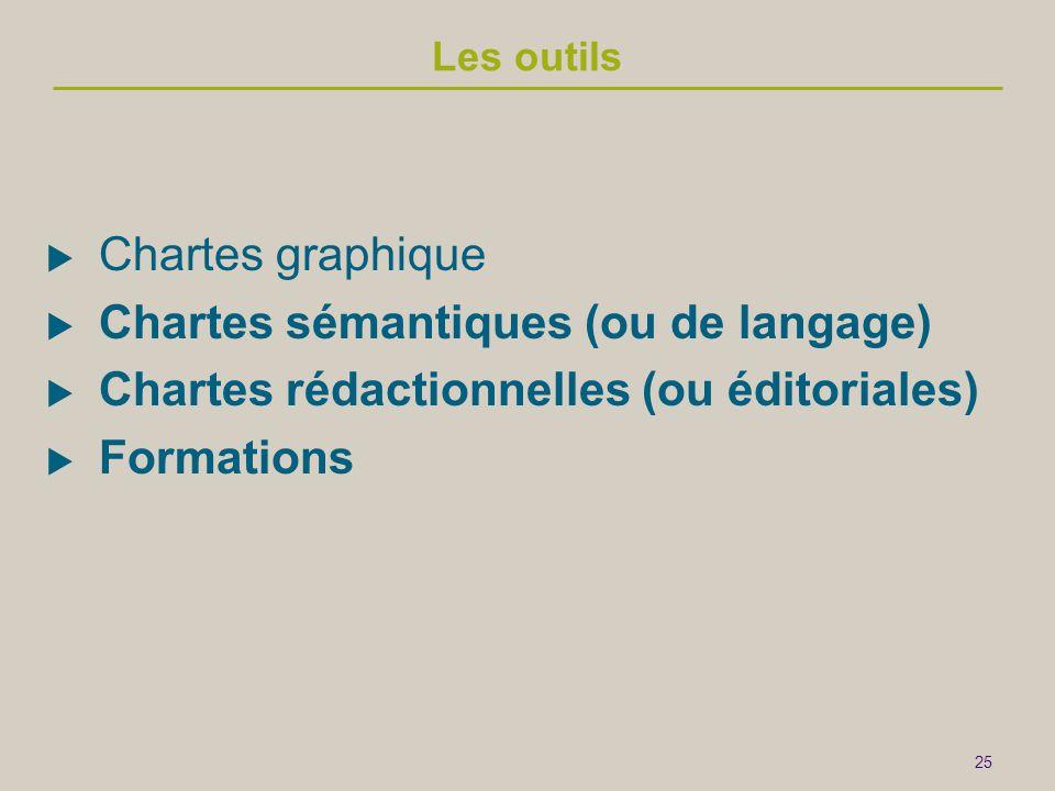 Chartes sémantiques (ou de langage)