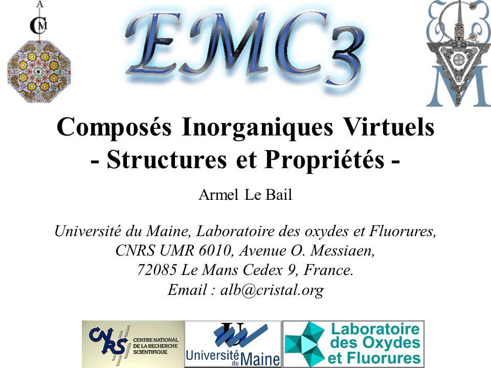 Composés Inorganiques Virtuels - Structures et Propriétés -