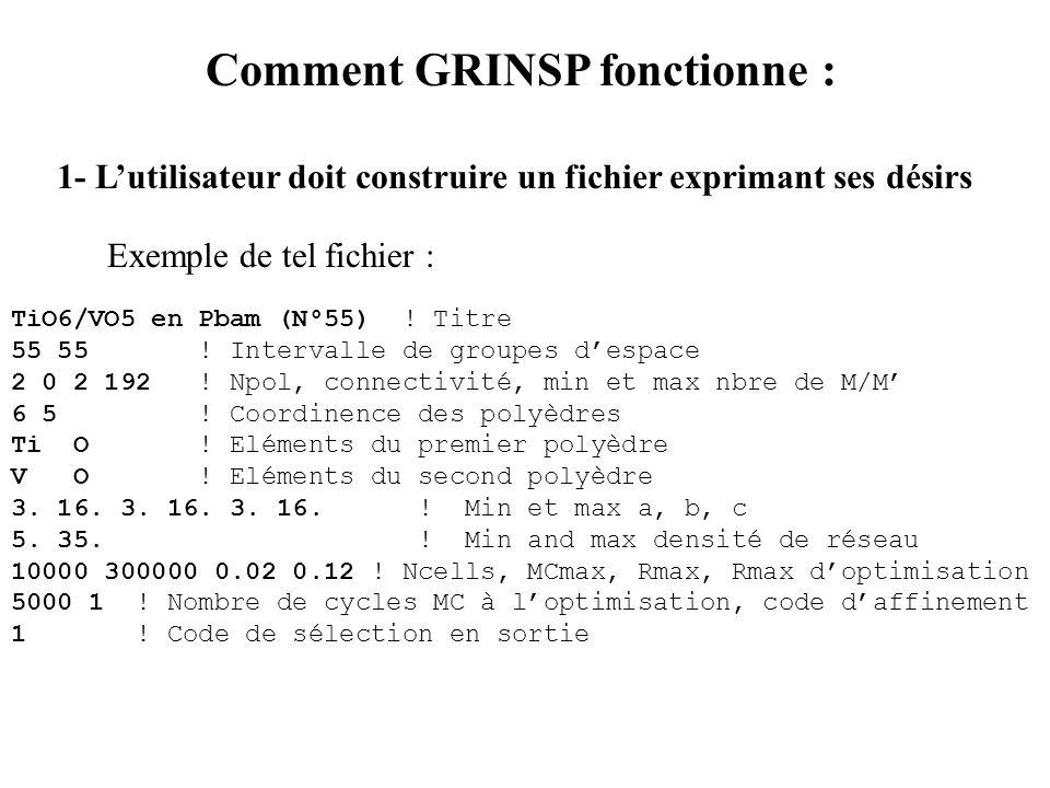 Comment GRINSP fonctionne :