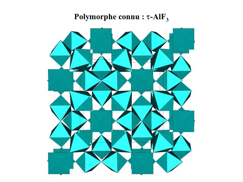Polymorphe connu : -AlF3
