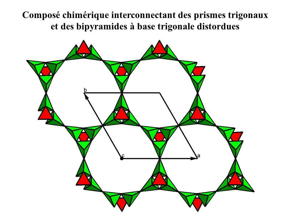 Composé chimérique interconnectant des prismes trigonaux