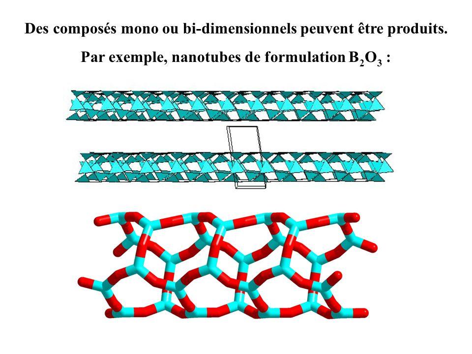 Des composés mono ou bi-dimensionnels peuvent être produits.