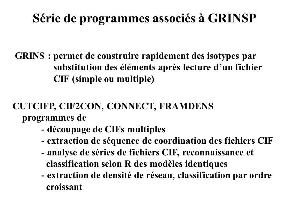 Série de programmes associés à GRINSP