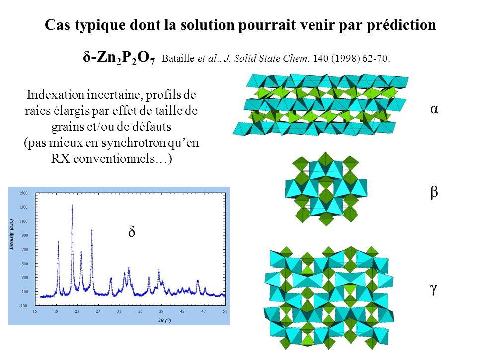 δ-Zn2P2O7 Bataille et al., J. Solid State Chem. 140 (1998) 62-70.
