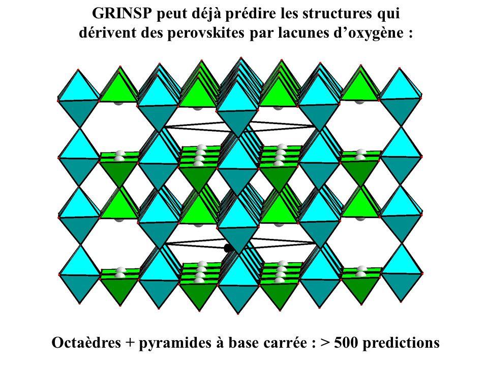 Octaèdres + pyramides à base carrée : > 500 predictions