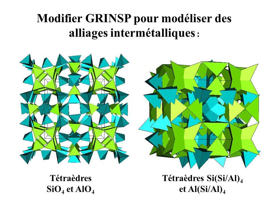 Modifier GRINSP pour modéliser des alliages intermétalliques :