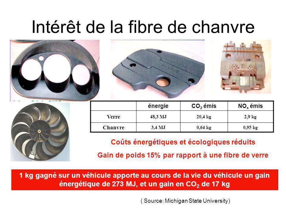 Intérêt de la fibre de chanvre