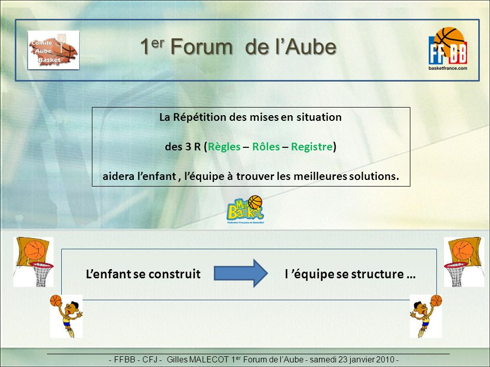 1er Forum de l'Aube La Répétition des mises en situation