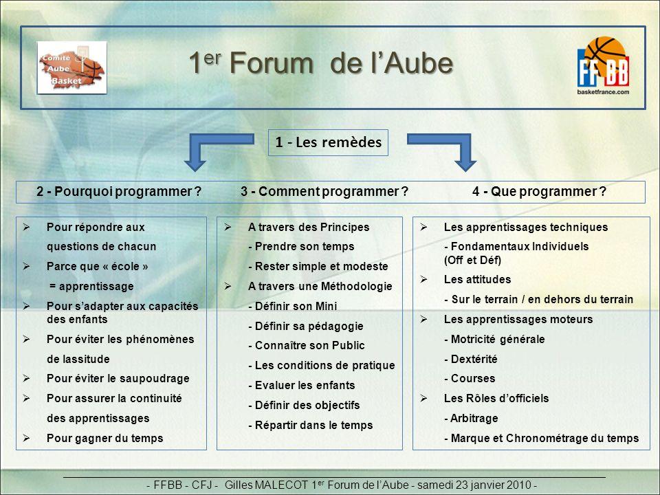 1er Forum de l'Aube 1 - Les remèdes