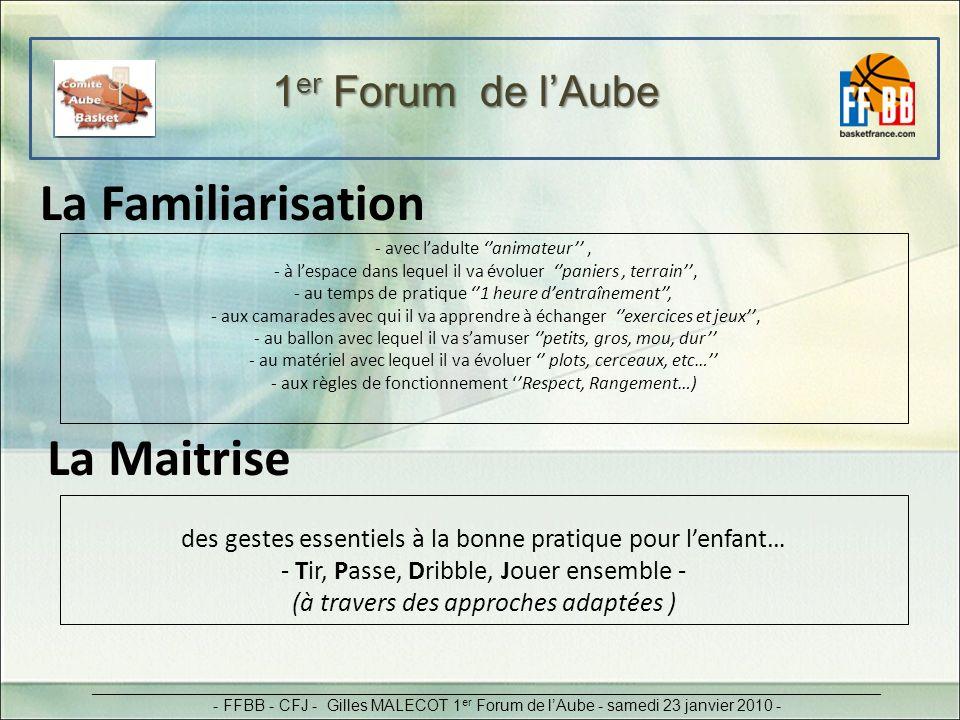 La Familiarisation La Maitrise 1er Forum de l'Aube