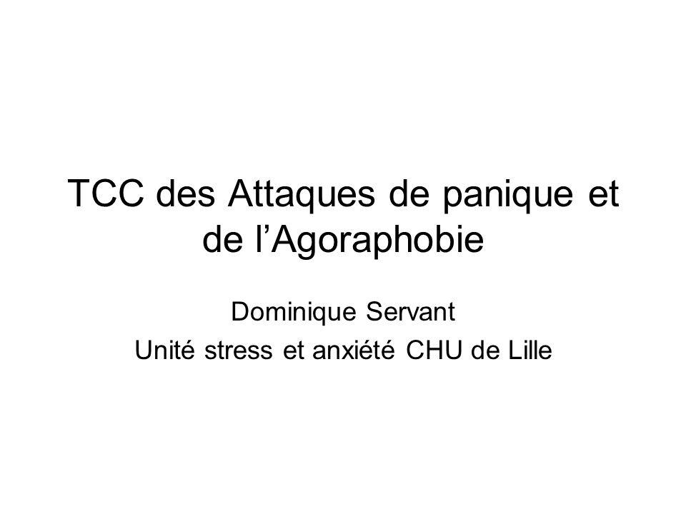 TCC des Attaques de panique et de l'Agoraphobie