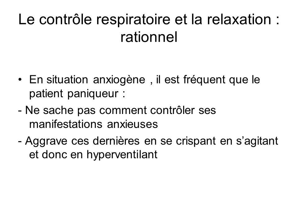Le contrôle respiratoire et la relaxation : rationnel