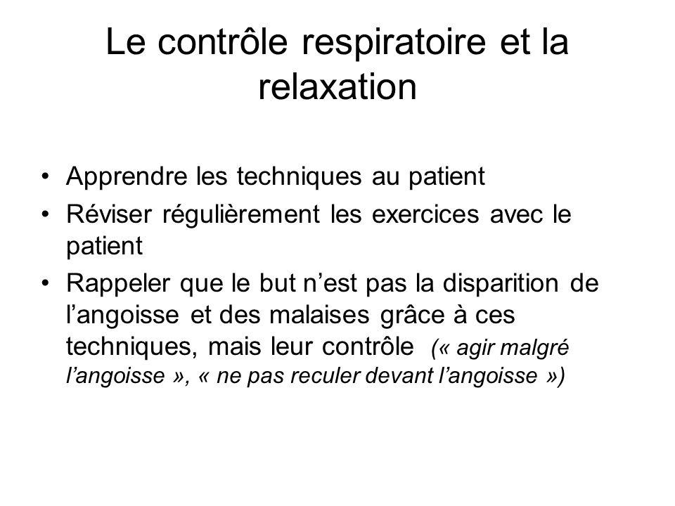 Le contrôle respiratoire et la relaxation