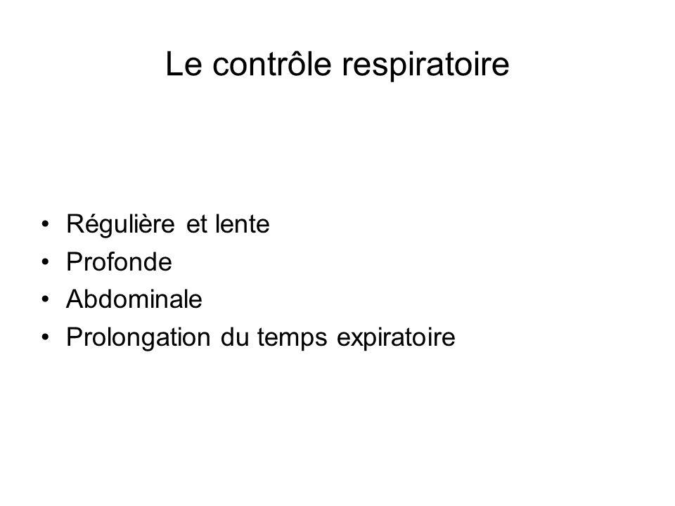 Le contrôle respiratoire