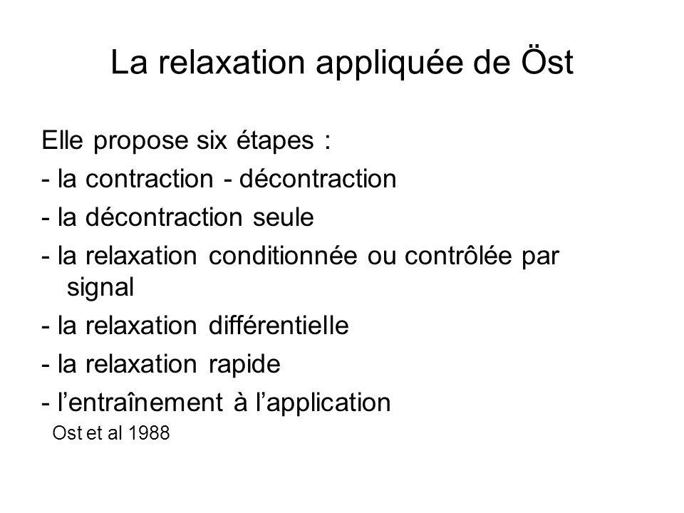 La relaxation appliquée de Öst