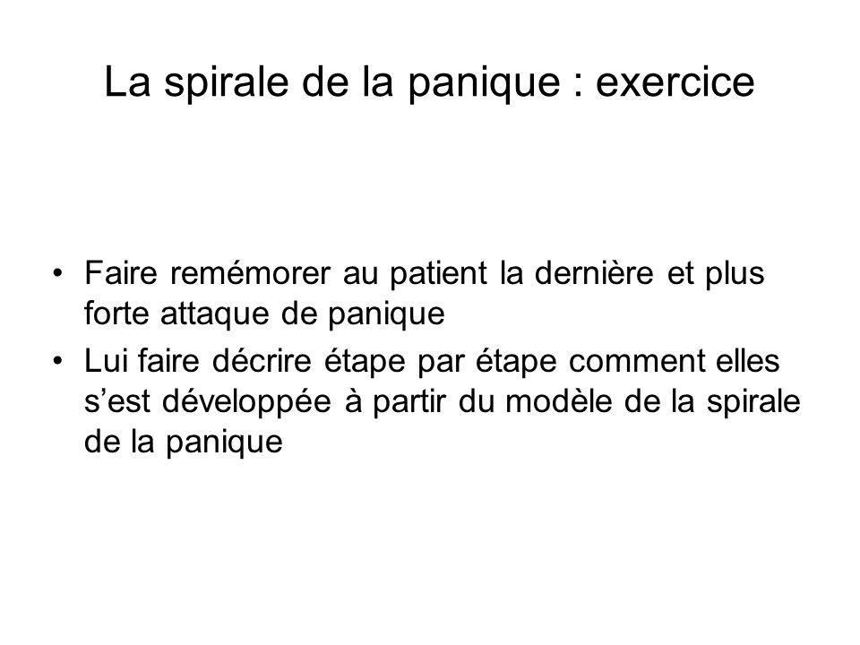 La spirale de la panique : exercice