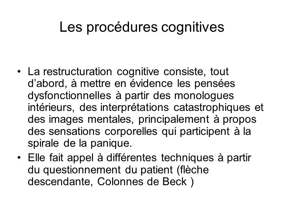 Les procédures cognitives
