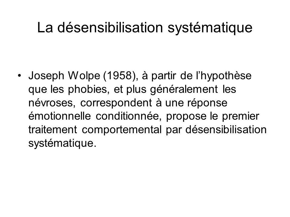 La désensibilisation systématique