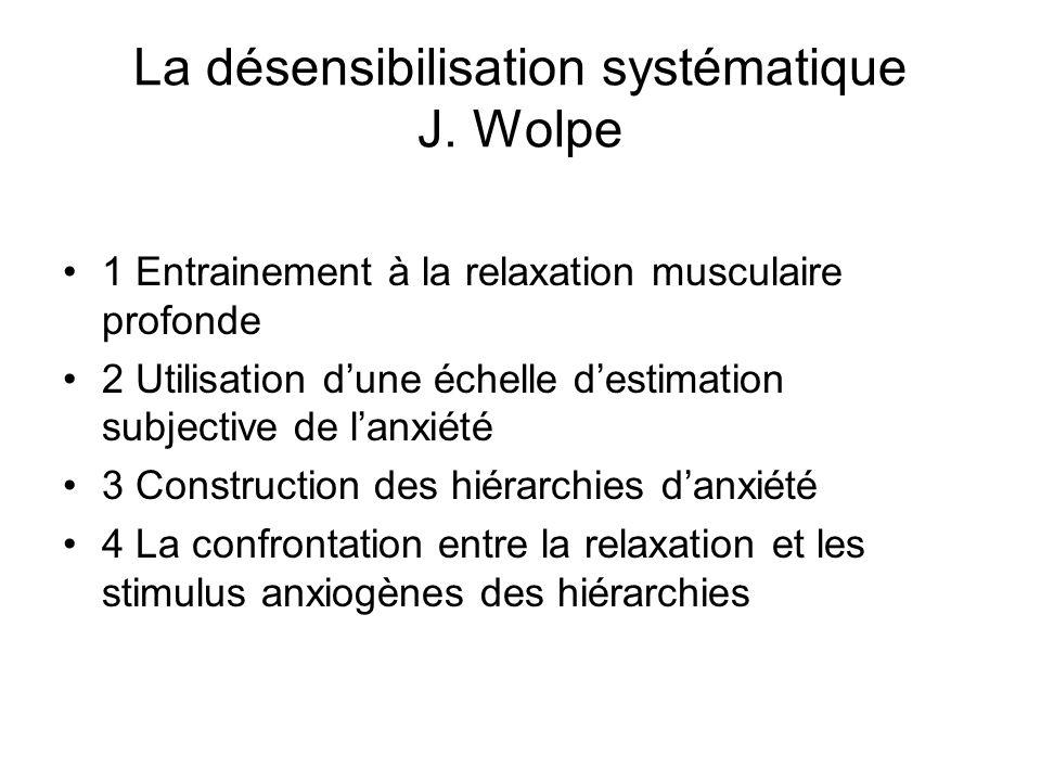 La désensibilisation systématique J. Wolpe