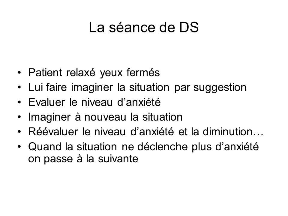 La séance de DS Patient relaxé yeux fermés